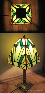 Art deco tiffany lampa