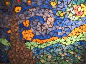 Vang Gogh nyomán - üvegmozaik