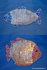 Mozaik pénz hal