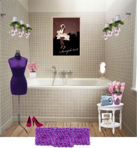 nőies fürdőszoba variációk