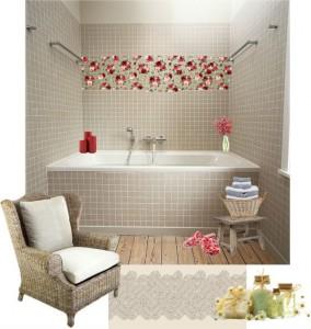 romantikus fürdőszoba variáció