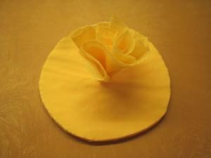 diy rózsa dekoráció hajtogatás