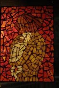 Mozaikkép készítés - Anya gyermekével üvegmozaik