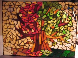Üvegmozaik kép - Évszakok változása