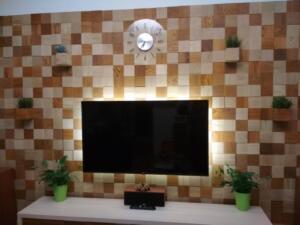 Design falburkolat - mozaik készítés falra